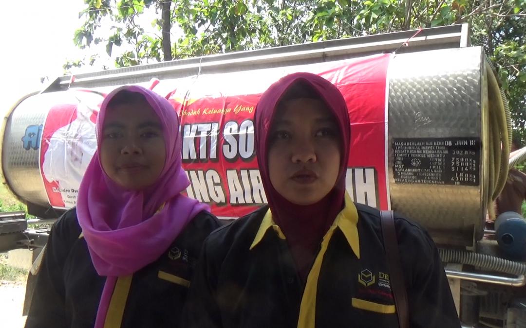 Dewangga Dropping Air Bersih Untuk Warga Mojoagung Pucakwangi